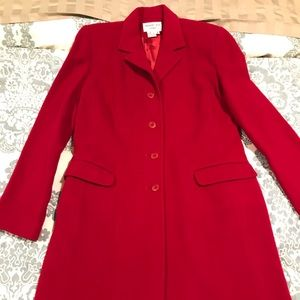 charles gray Jackets & Coats - Red wool knee length women's pea coat
